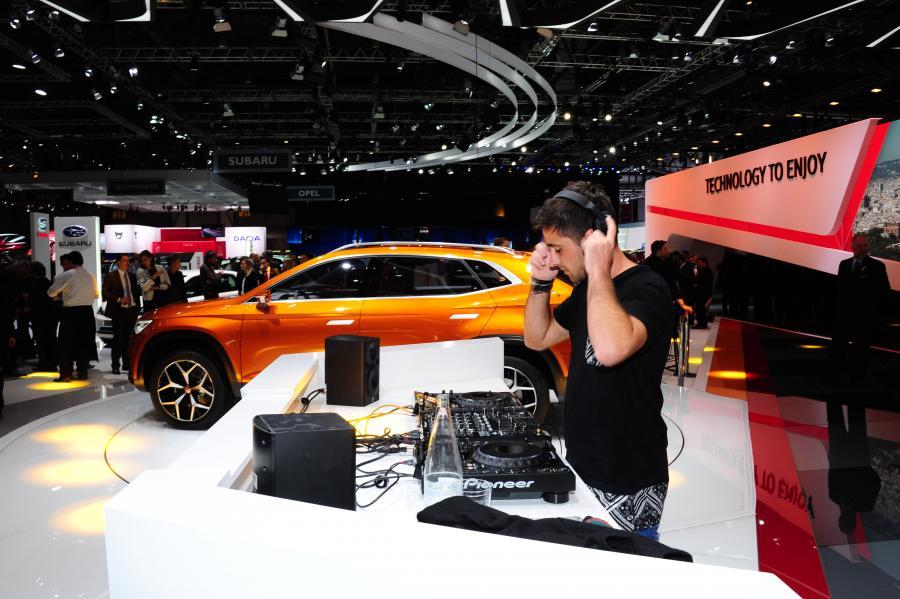DJ Valentin Huedo at SEAT Lounge Geneva Motorshow