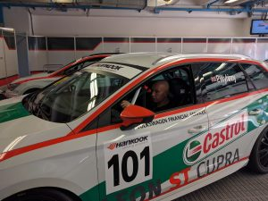 LeonOC admin Andrew in SEAT Italia director Peter's Leon Cupra ST TCS car