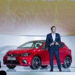 Director of Design, Alejandro Mesonero, presenting the New SEAT Ibiza
