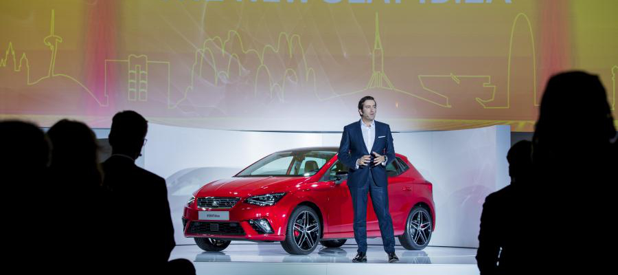 Director of Design, Alejandro Mesonero, presenting the New SEAT Ibiza